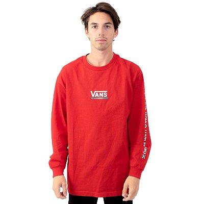 Camiseta Vans Manga Longa Checkmate - Racing Red