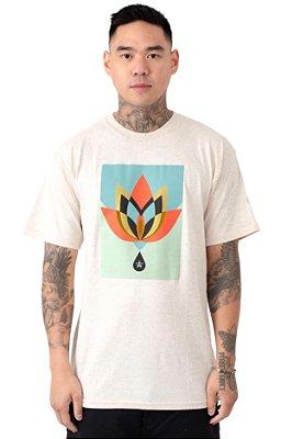 Camiseta Obey Geometric Flower - Natural