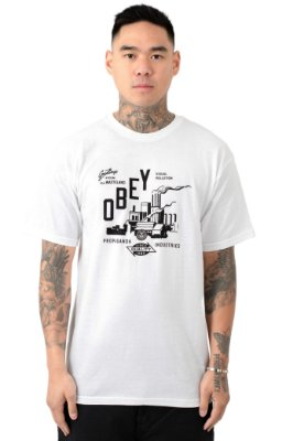 Camiseta Obey  Wasteland - White