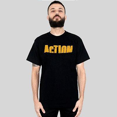 Camiseta Action Clothing Sign Preta
