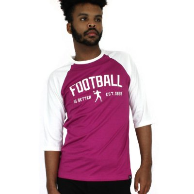 Raglan Football is Better Roxa/Off-White