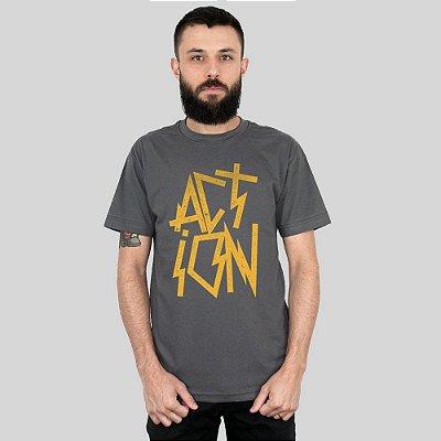 Camiseta Action Clothing Electro Punk Chumbo