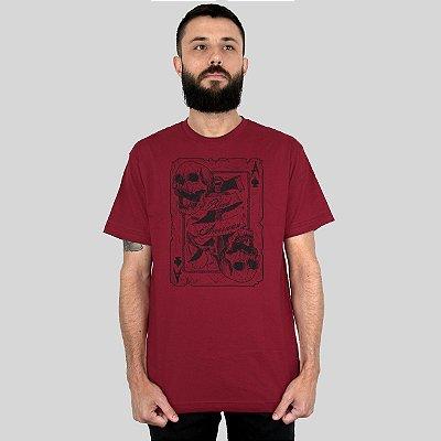 Camiseta Bleed Death Card Vinho