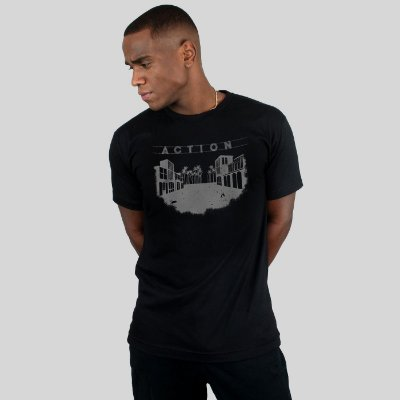 Camiseta Action Clothing Venice Preta