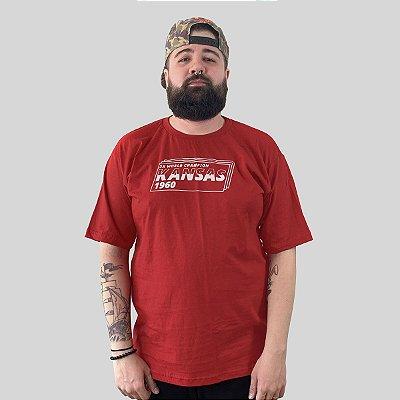Camiseta The Fumble Division Kansas Vermelho