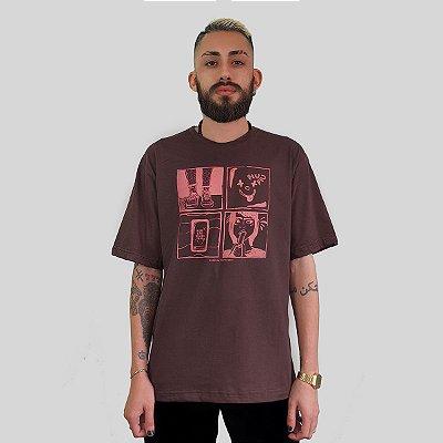 Camiseta Quimera Afronta Marrom