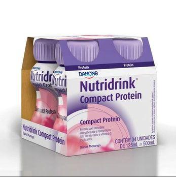 NUTRIDRINK COMPACT PROTEIN MORANGO C/04 UND 125ML