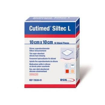 CURATIVO CUTIMED SILTEC L 10 X 10 CM REF 73283-01