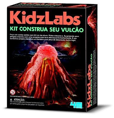 Kit Construa seu Vulcão - Brinquedo Científico