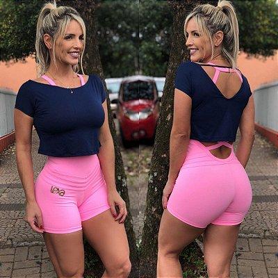 Cropped Blusinha Azul Marinho