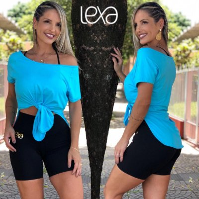 Camiseta Viscolycra Azul