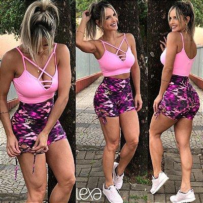 Shorts Cruzado Fusion Rosa