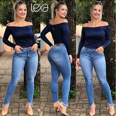 2b3b8a014 Calça Jeans Lavagem Média - Mila Lexa Moda Fitness