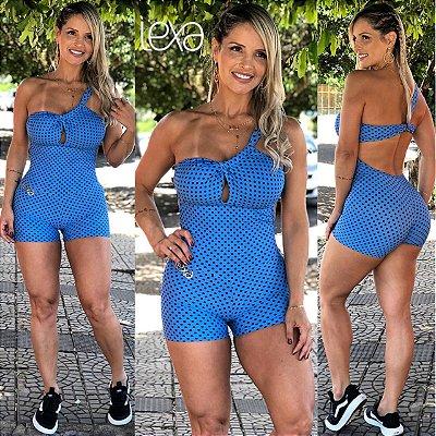 Macaquinho Mila 19  Poa Azul