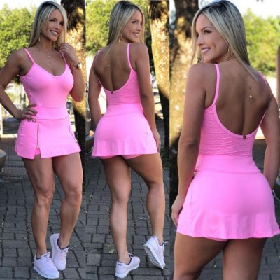 Body Costas Tule Rosa