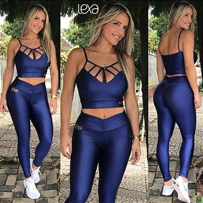 Legging  Azul Cirré