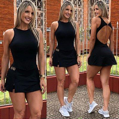 Vestido Zíper Preto
