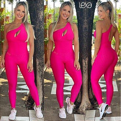 Macacão Zigue-Zague Pink Neon