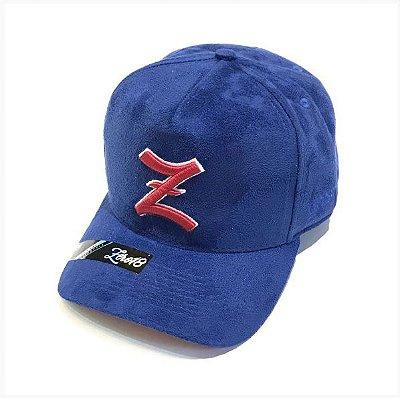 Boné Z Yankee Azul Camurça