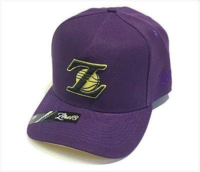 Boné Z18 Lakers Roxo Aba Curva