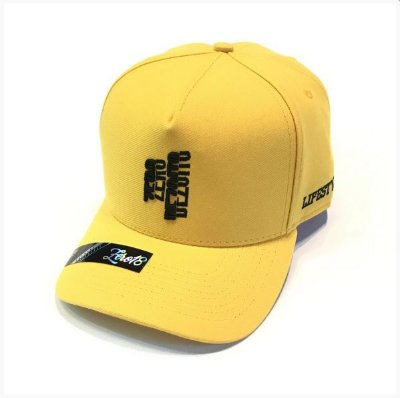 Boné Zero Dezoito Amarelo Aba Curva
