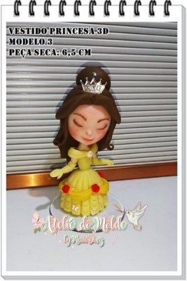 Vestido de Princesas 3D modelo 3