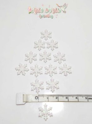 Floco de Neve em E.V.A com Glitter