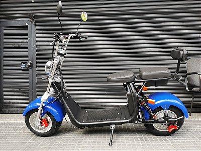 Scooter Harley de 2000w com guidão alto e bancos separados
