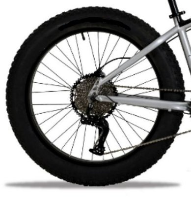 Roda Traseira aro 26 Fat Bike Completa com cubo  K7 Cassete