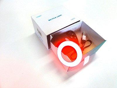 Luz traseira bike recarregável USB 28 LED´s