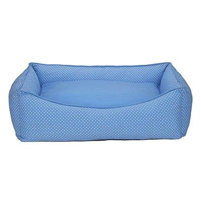 Cama Retangular Carinhosa - Azul - Tamanho P