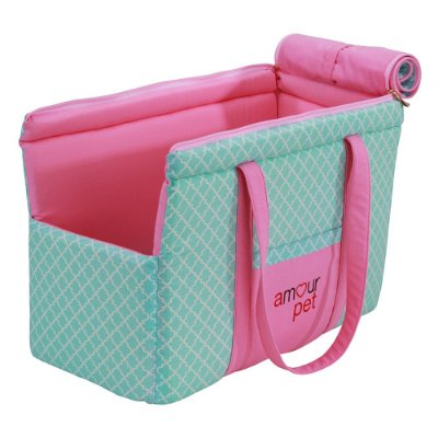 Bolsa de Transporte Fashion Pet - Imperial Rosa e Tifany - Tam Único