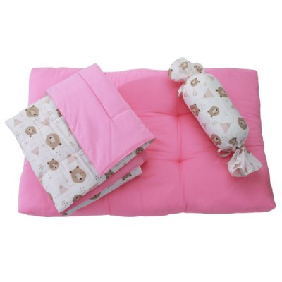Kit Soneca Pet - Rosa e Ursos - Tam M