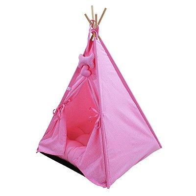 Cabana Camping Pet - Rosa Poá - Tam Único
