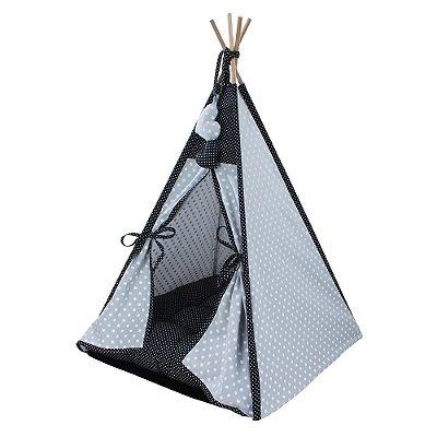 Cabana Camping Pet - Cinza e Preto Poá - Tam Único