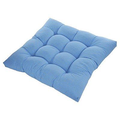 Almofadão Futon Pet - Azul Poá - Tam Único
