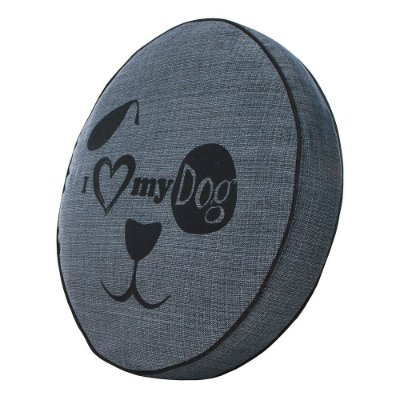 Almofada Futon Pet Redonda - Jacquard Jeans - My Dog - Tam P