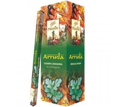 Incenso Massala Flute ARRUDA (25 Caixas C/ 7 Varetas)