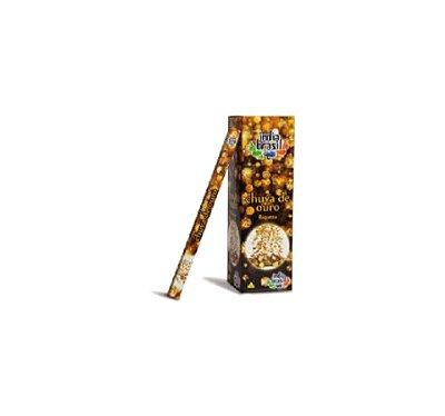 Incenso Premium CHUVA DE OURO Kit 5 Caixas Fechadas 1000 Varetas