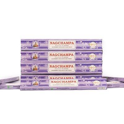 Incenso Nag Champa Agarbathy Flute Incenso Masala 5cxs (Nova Embalagem, mesmo conteúdo).