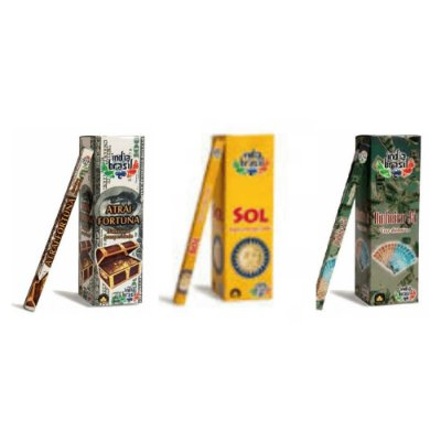 Kit De Incensos Fique Rico Com 25 Caixinhas Sortidas (200 Incensos)