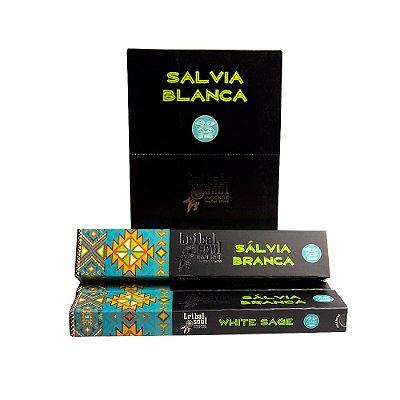 Incenso Massala Tribal Soul Salvia Branca 1 Caixa com 9 Varetas