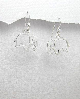 brinco de prata elefantinho