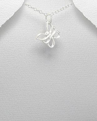 pingente de prata borboleta pequeno