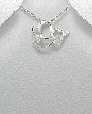 pingente de prata borboleta medio