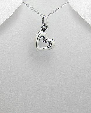 pingente de prata coração pequeno
