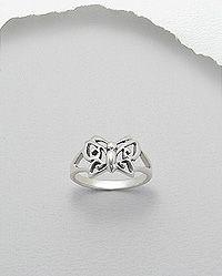 anel de prata borboleta vazada
