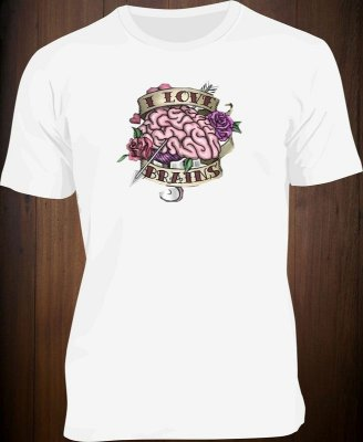 Camiseta I Love Brains