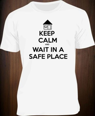 Camiseta Keep Calm and Wait in a Safe Place