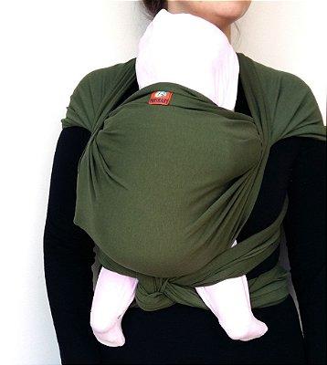 Wrap Sling Elástico Verde Musgo